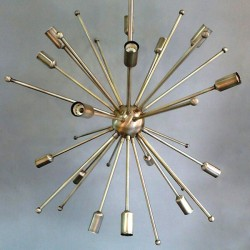 Lampara techo Sputnik metal 32 luces medida